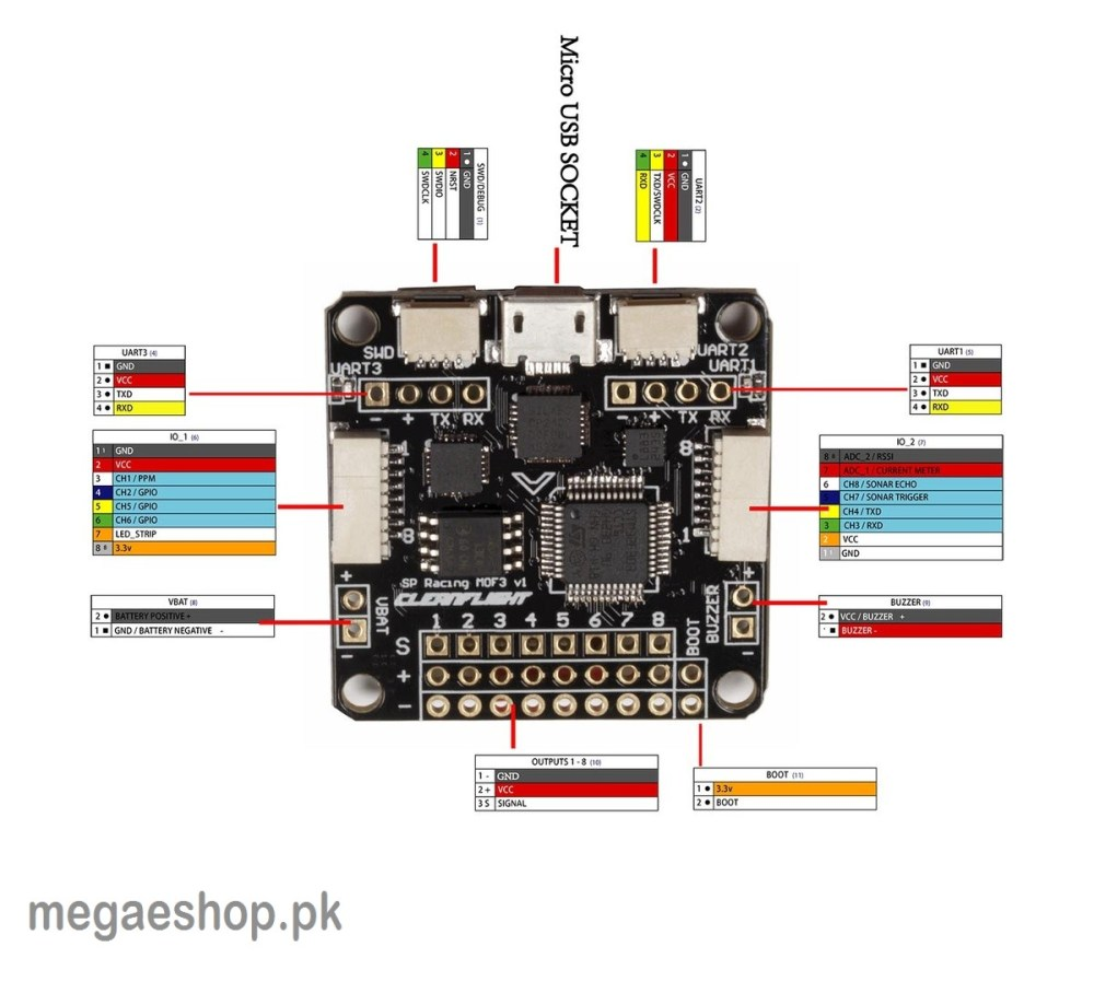 medium resolution of more views f3 flight controller deluxe sp racing