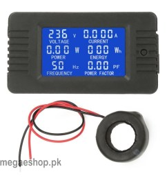 6 in 1 ac 100a digital voltmeter ammeter energy power power frequency factor current panel meter [ 1001 x 1001 Pixel ]