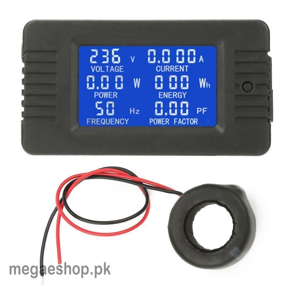 hight resolution of 6 in 1 ac 100a digital voltmeter ammeter energy power power frequency factor current panel meter