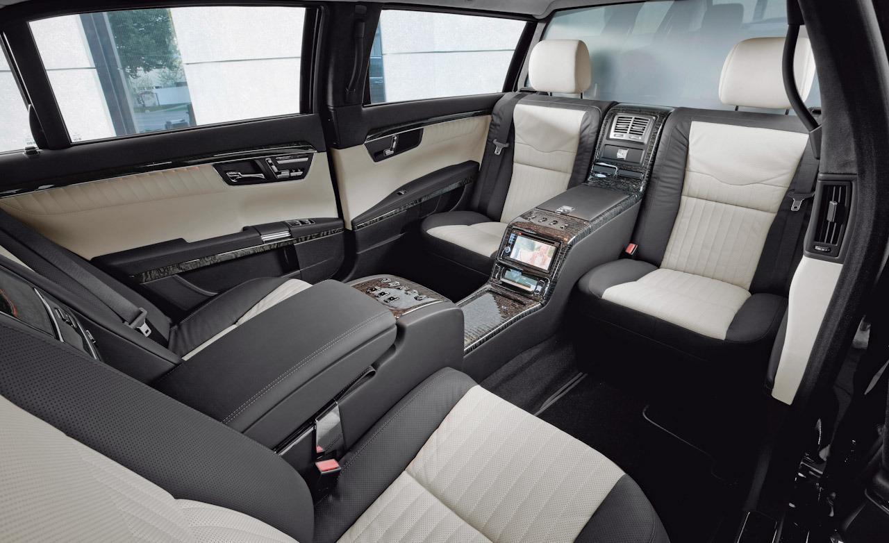 Mercedes Benz S600 Pullman Guard Limousine Interior 1 Mega Luxury