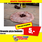 Rode biet pizza bodem