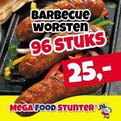 barbecue worsten 96 st