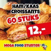 ham-kaas croissants 60 stuks 12 euro