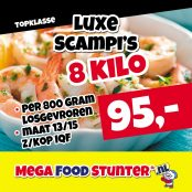 luxe scampis 8 kg