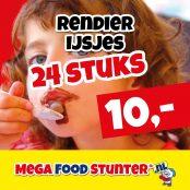 rendier ijsjes 10 euro