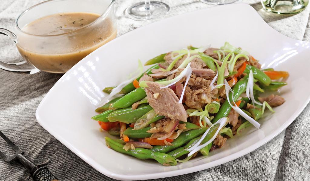 Tuna Green Beans Stir Fry
