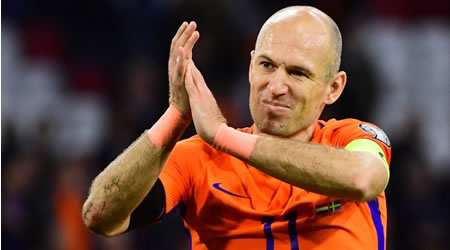 Arjen Robben retires from Holland national team after World Cup failure