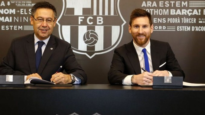 messi sign deal