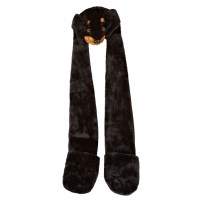 Womens/Ladies Faux Fur Animal Hat With Attached Scarf And ...