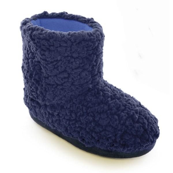 Childrens Kids Boys Coral Fleece Slippers Boots Indoor