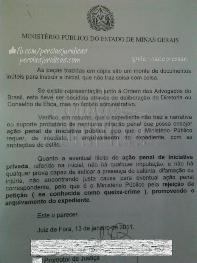 2ª parte do parecer do MP.