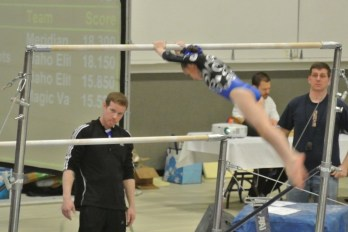 Idaho State Championships Bars Half Turn Dismount - Level 5