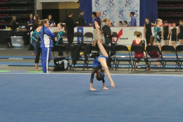 Gem State Invitational 2013 Floor Back Walkover - Level 6