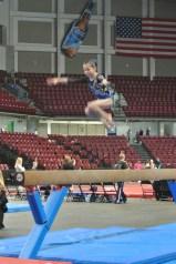 Queen of Hearts Invitational 2013 Beam Tuck Jump - Level 6