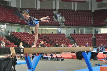 Queen of Hearts Invitational 2013 Beam Arabesque - Level 6