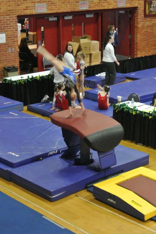 Idaho State Championships 2013 Vault Handstand - Level 6