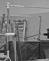 Intrasquad Meet 2013 Bars - Level 7 - Squat-on to go from low bar to high bar. Look where the coach is looking.