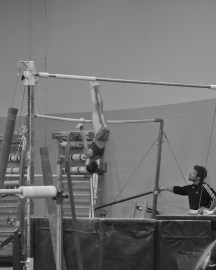 Intrasquad Meet 2013 Bars - Level 7 - Trying to get into her giants again