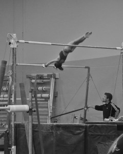 Intrasquad Meet 2013 Bars - Level 7 - Better momentum and body position this time