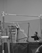 Intrasquad Meet 2013 Bars - Level 7 - Ready for dismount...