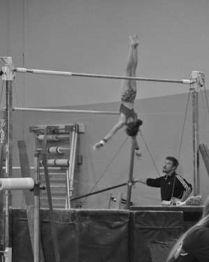 Intrasquad Meet 2013 Bars - Level 7 - Fly through the air