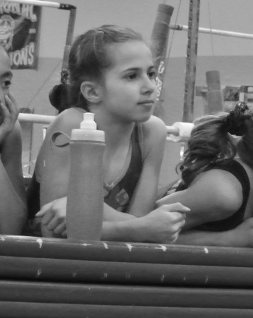 """Intrasquad Meet 2013 Watching Teammates - Level 7 - This is the look says, """"That went well."""""""