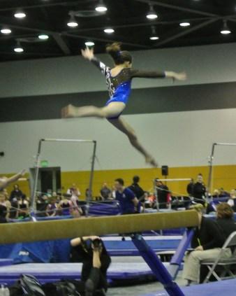 National Judges' Cup 2014 Beam Split Leap - Level 7