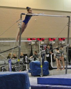 Classic Rock Invitational 2014 Bars Transfer to High Bar - Level 7