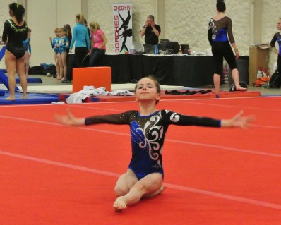 Queen of Hearts Invitational 2014 Floor Opening Pose - Level 7