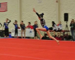 Queen of Hearts Invitational 2014 Floor Tumbling Run - Level 7