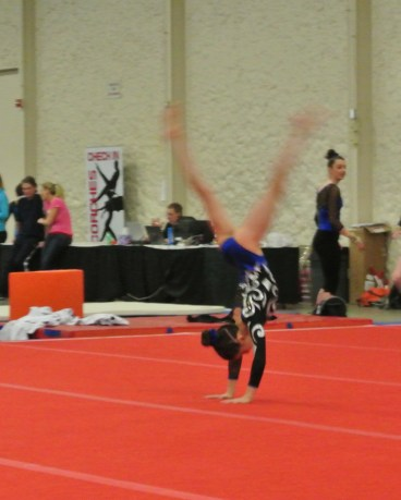 Queen of Hearts Invitational 2014 Floor Front Handspring - Level 7