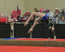 Queen of Hearts Invitational 2014 Beam Back Handspring - Level 7