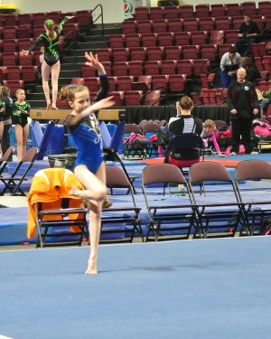 Idaho State Championships 2014 Floor Turn - Level 7