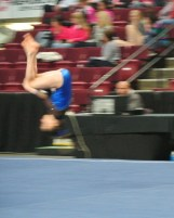 Idaho State Championships 2014 Floor Front Tuck - Level 7