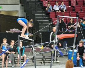 Idaho State Championships 2014 Bars Squat On - Level 7