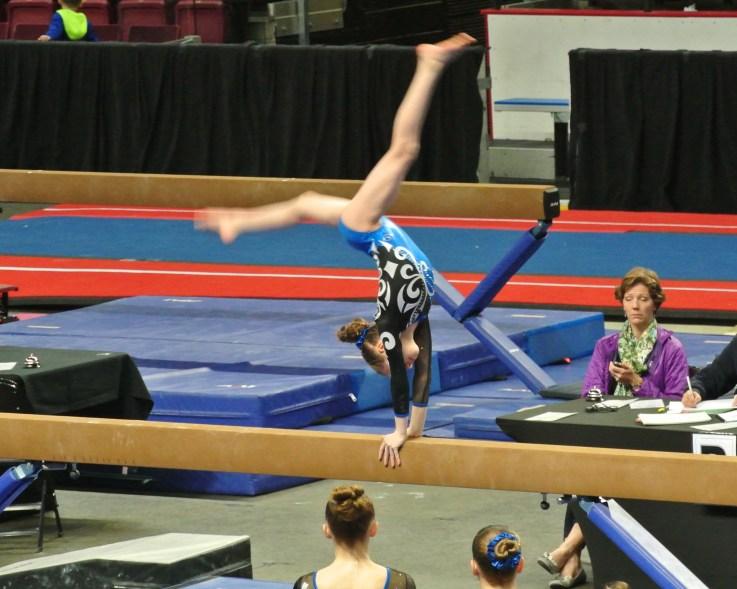 Idaho State Championships Beam Back Walkover - Level 7