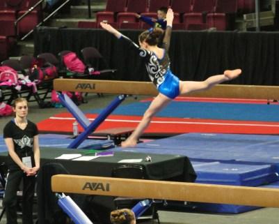 Idaho State Championships Beam Leap - Level 7