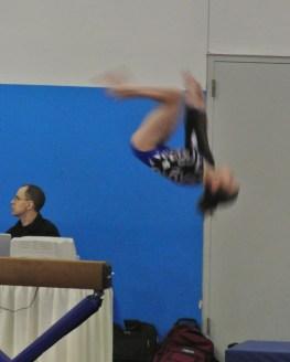 Rose City Challenge 2014 Beam Back Tuck Dismount - Level 7