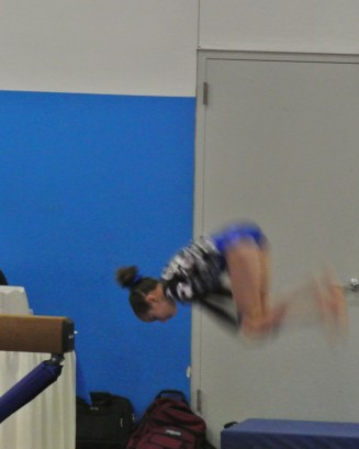 Rose City Challenge 2014 Beam Back Tuck Dismount - Level 7