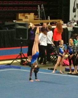 Gem State Invitational 2015 Floor Handstand - Level 7