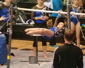Idaho State Championships 2015 Bars Tap Swing - Level 7
