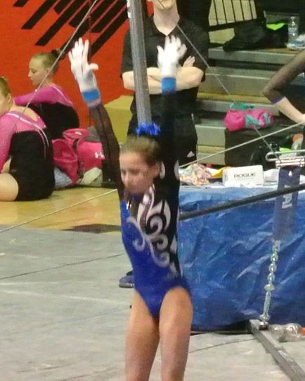 Idaho State Championships 2015 Bars Dismount Landing - Level 7