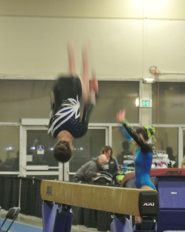 Queen of Hearts Invitational 2016 Beam 180 Back Tuck Dismount - Level 8