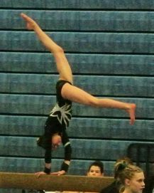 Idaho State Championships 2016 Beam Dismount Combo - Level 8