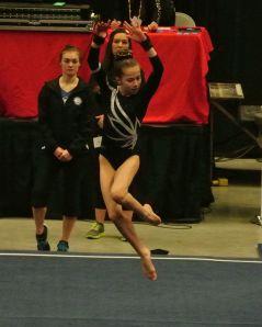 Region 2 Championships 2016 Floor Leap Pass - Level 8