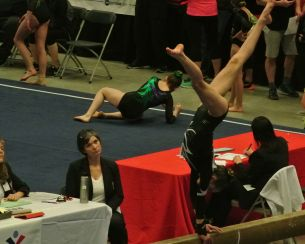 Region 2 Championships 2016 Beam Cartwheel - Level 8
