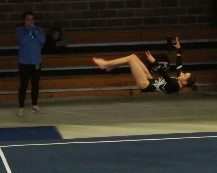 Idaho State Championships 2017 Floor Front Tuck - Level 8