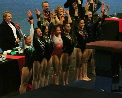 Region 2 Championships 2017 - Saluting the Judges - Level 8