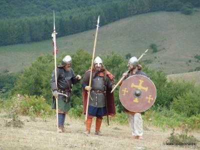 Guerreros francos patrullando
