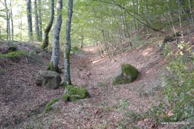 Trinchera en ladera de Zubitxa